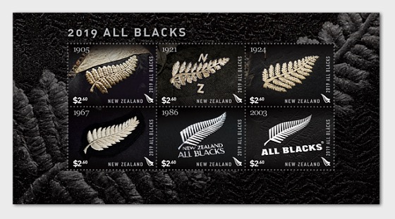 2019 All Blacks Mint Miniature Sheet - Miniature Sheet