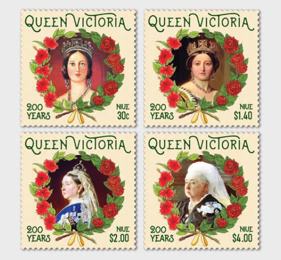 2019 Niue Queen Victoria 200 Years Set of Mint Stamps - Set