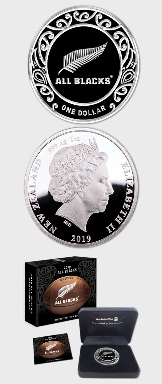 2019 All Blacks 1oz Silver Specimen Coin - Silver Coin