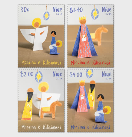 Niue Christmas 2019 Set of Mint Stamps - Set