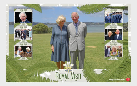 Royal Visit 2019 Set of Mint Stamps - Set
