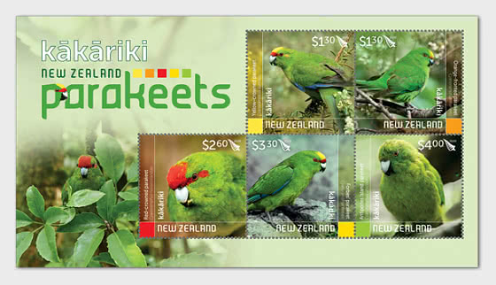 2020 Kakariki - New Zealand Parakeets - Hojas Bloque