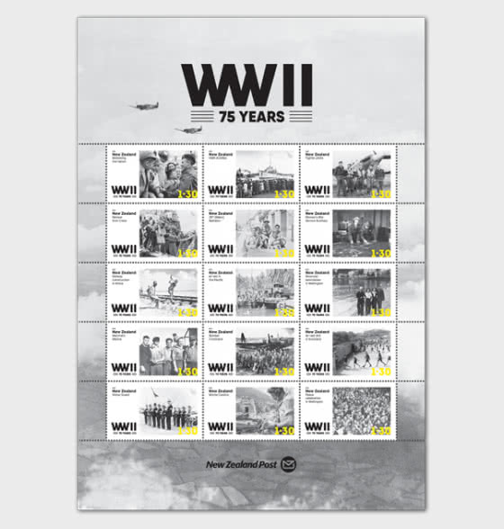 2020 WWII 75 Years Set of Mint Stamps - Sheetlets
