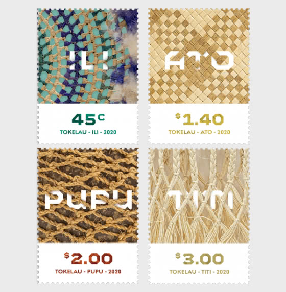 Tokelau Weaving 2020 Set of Mint Stamps - Set