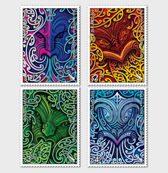 2020 Nga Hau e Wha - The Four Winds Set of Mint Stamps - Set