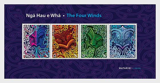 Ngā Hau e Whā - Los Cuatro Vientos. - Hojas Bloque