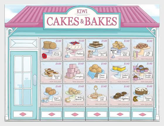 2020 Kiwi Cakes & Bakes Set of Mint Stamps - Set