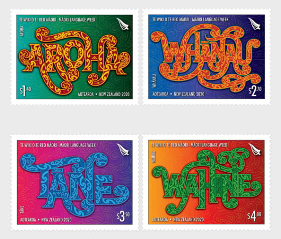 2020 Te Wiki o te Reo Maori - Maori Language Week Set of Mint Stamps - Set