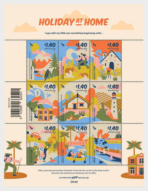 2021 Holiday at Home Set of Mint Stamps - Set