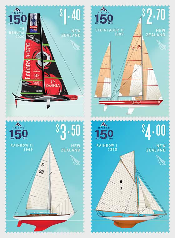 2021 RNZYS 150 Set of Mint Stamps - Set