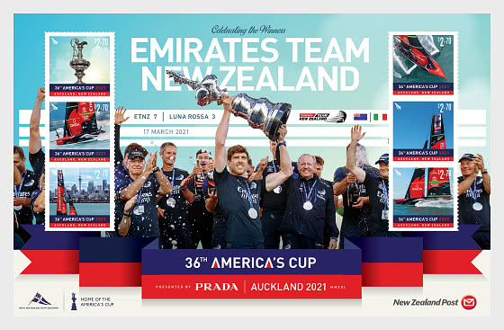 2021 America's Cup Set of Mint Stamps - Miniature Sheet