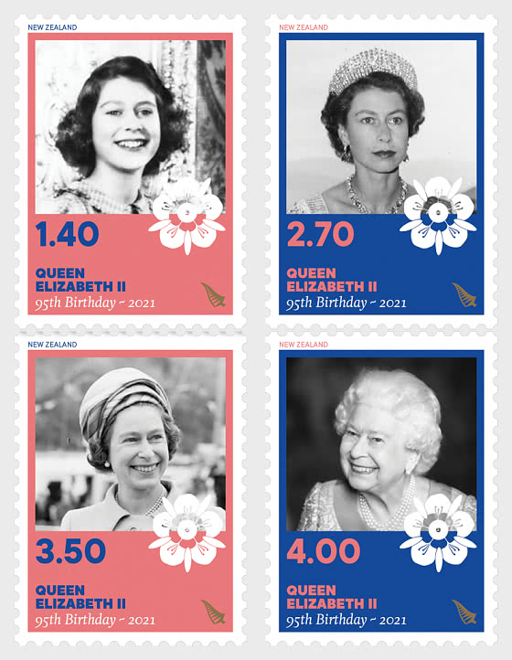 2021 Queen Elizabeth II Ninety-Fifth Birthday Set of Mint Stamps - Set