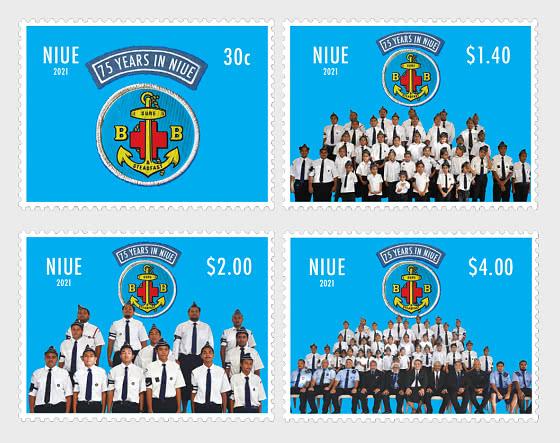 Boys' Brigade Niue- 75 Years Set of Mint Stamps - Set