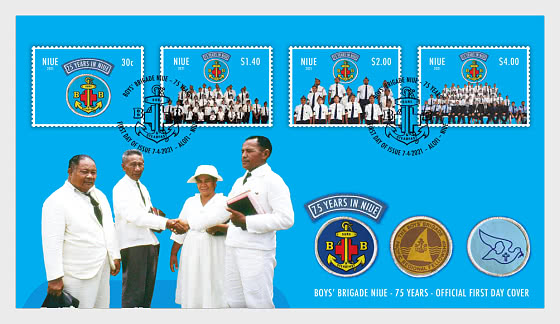 Boys' Brigade Niue - 75 Years First Day Cover - First Day Cover