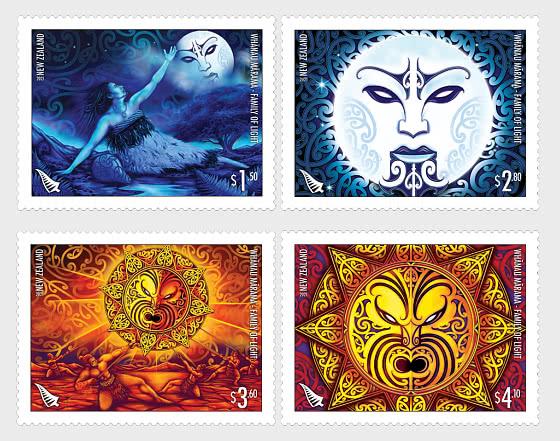 2021 Whanau Marama - Family of Light Set of Mint Stamps - Set