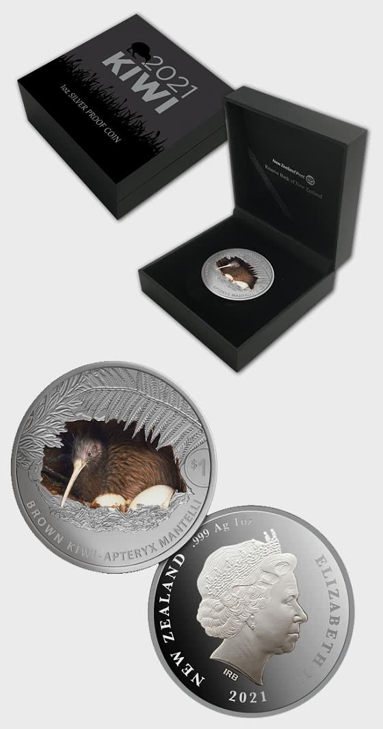2021 Kiwi 1oz Silver Proof Coin - Silver Coin