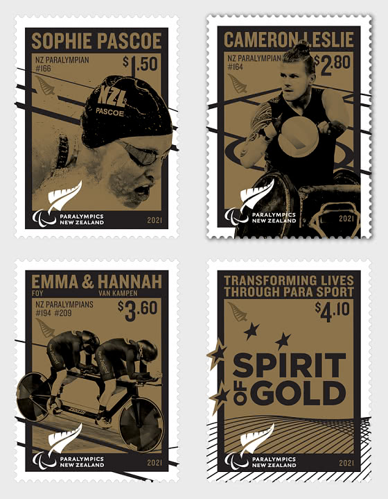 Tokyo 2020 Paralympic Games Set of Mint Stamps - Set