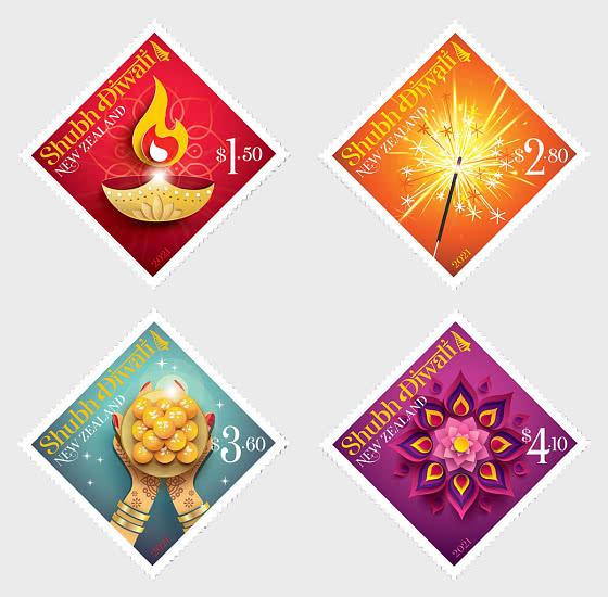 2021 Shubh Diwali Set of Mint Stamps - Set