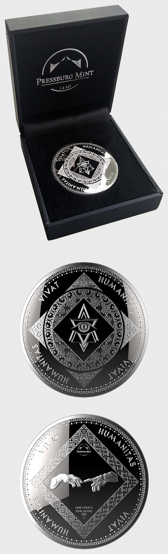 Vivat Humanitas - Medallion Proof Like - Gift Box - Silver Bullion