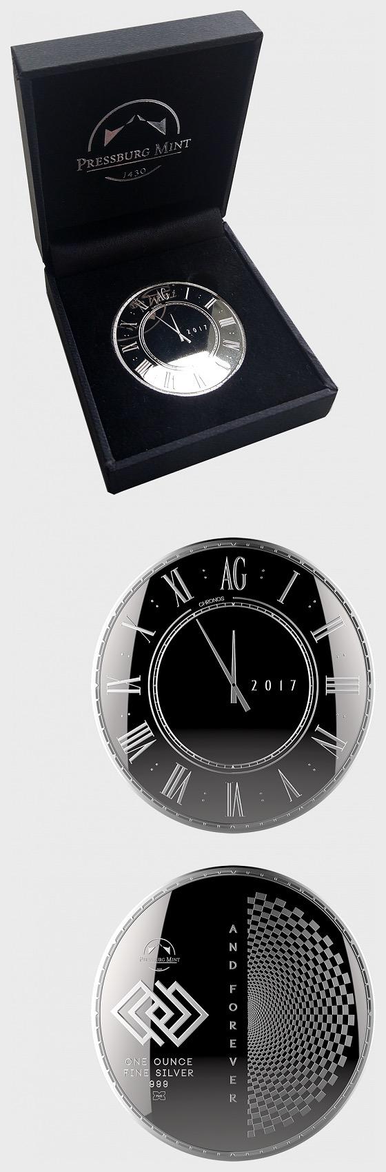 Chronos 2017 - Brilliant Uncirculated - Gift Box - Silver Bullion