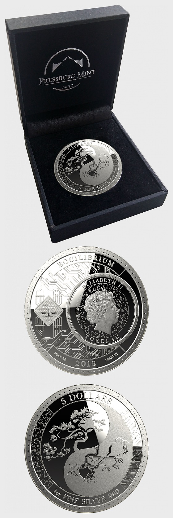 Equilibrium - Silver Coin - Brilliant Uncirculated - Gift Box - Silver Coin