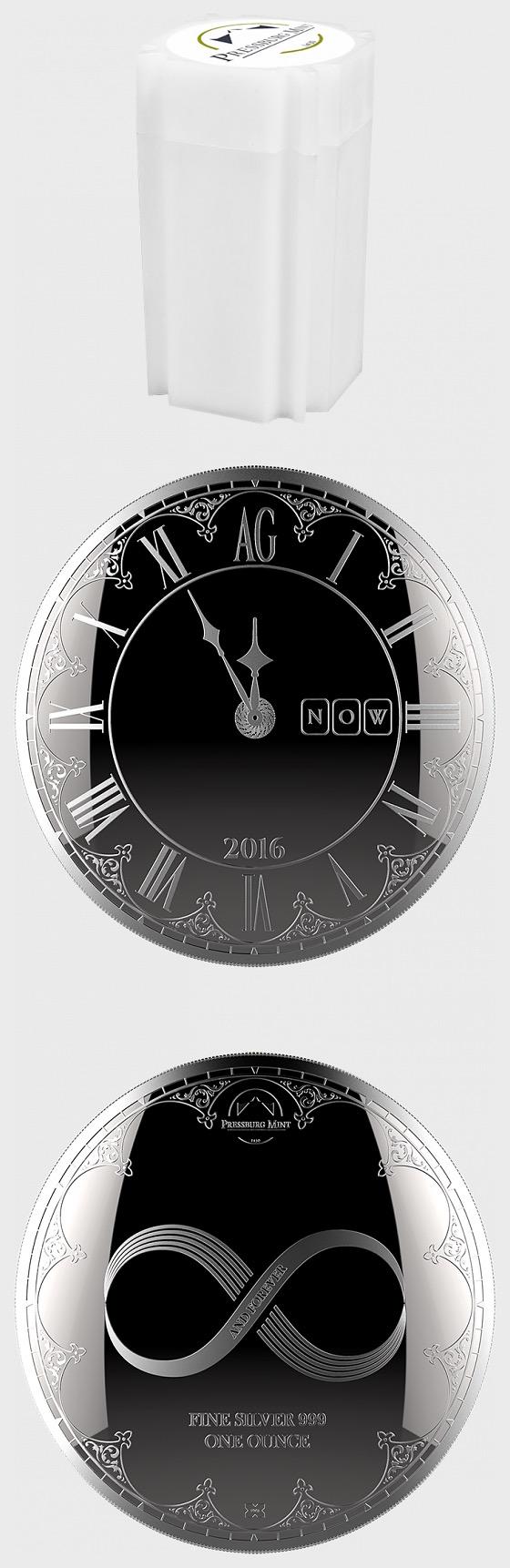 Chronos 2016 - Medallion Tube of 20 Bullion - Silver Bullion