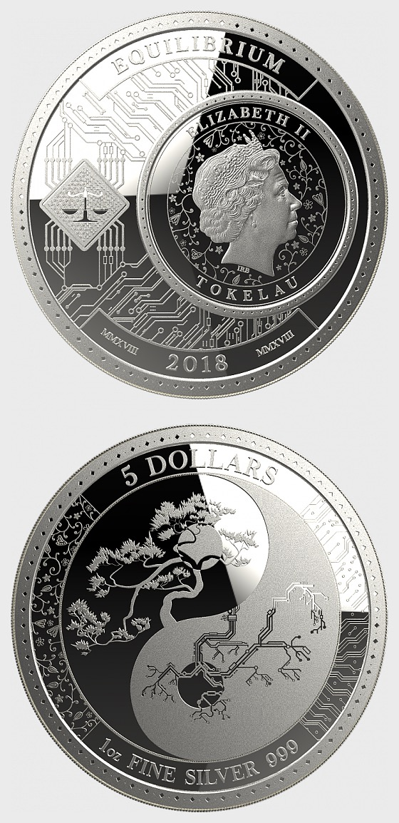 Equilibrium -  Bullion - Single Coin Capsule - Silver Coin