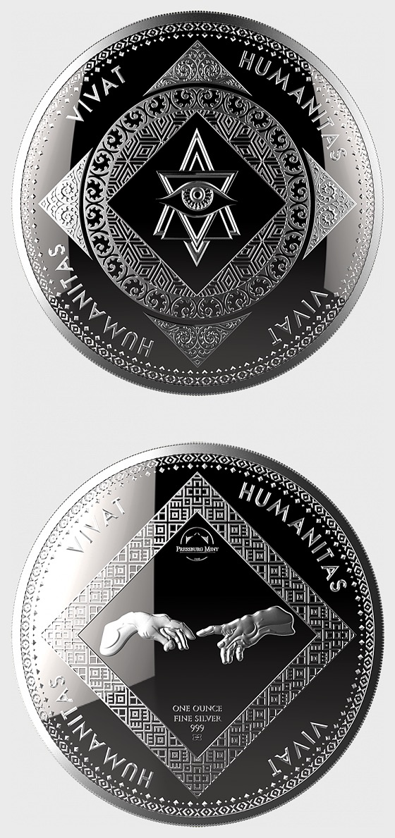Vivat Humanitas - Bullion - Single Coin Capsule - Silver Bullion