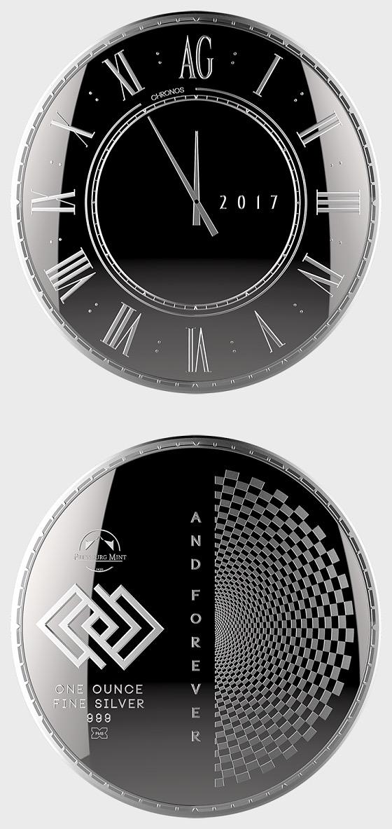 Chronos 2017 - Brilliant Uncirculated - Single Coin Capsule - Silver Coin