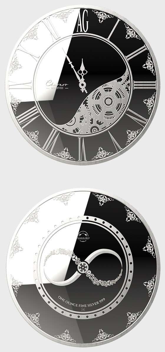 Chronos 2018 - Brilliant Uncirculated - Single Coin Capsule - Silver Coin