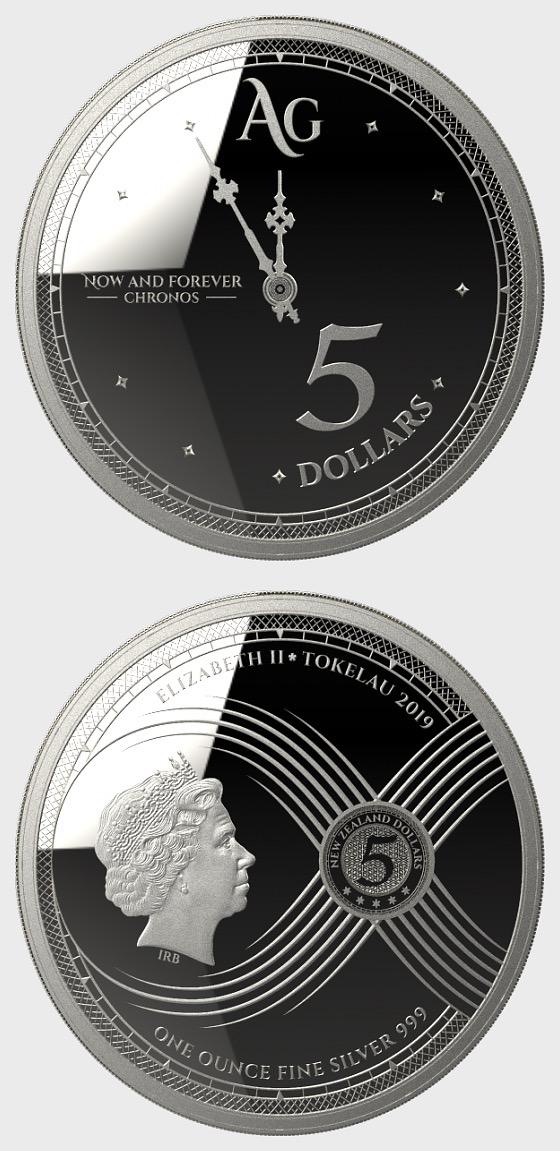 Chronos 2019 - Brilliant Uncirculated- Single Coin Capsule - Silver Coin