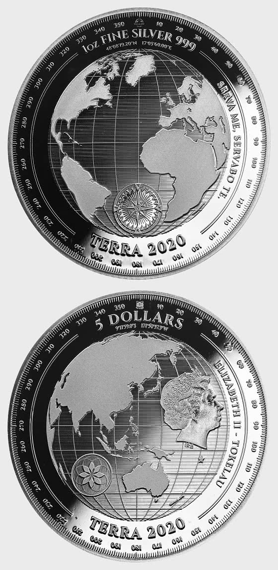 Terra 2020 - Brilliant Uncirculated - Single Coin Capsule - Silver Coin