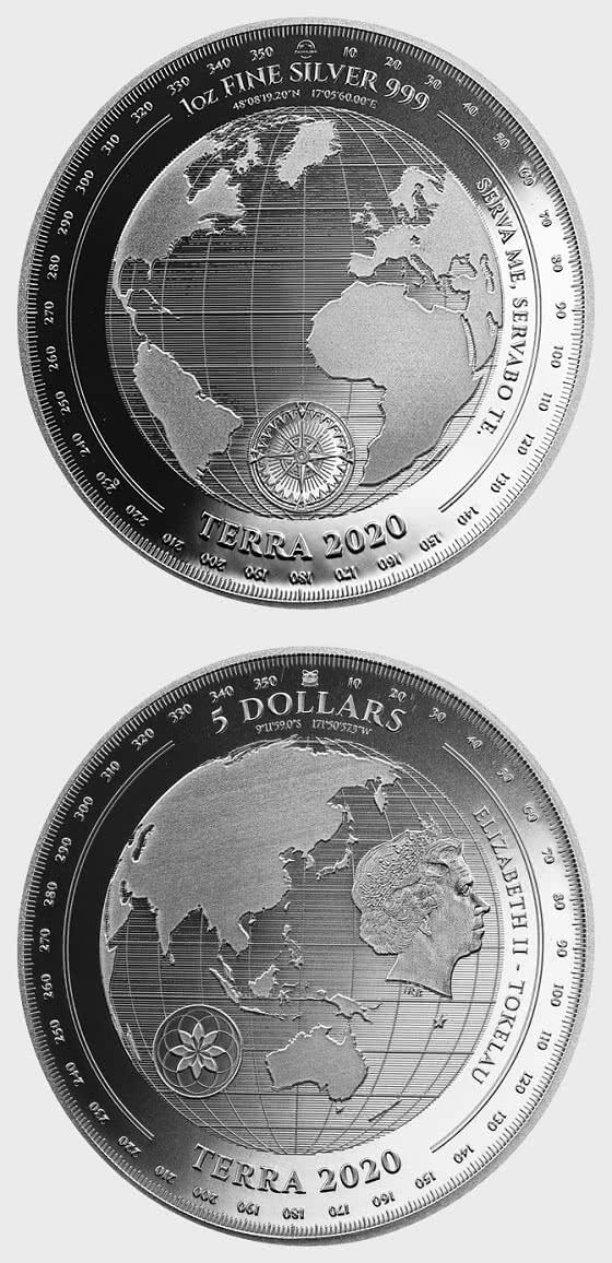 Terra 2020 - Bullion - Single Coin Capsule - Silver Bullion