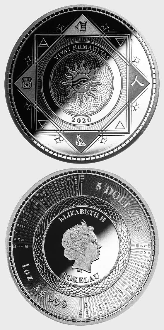Vivat Humanitas 2020 - Brilliant Uncircultated - Single Coin Capsule - Moneta d'argento