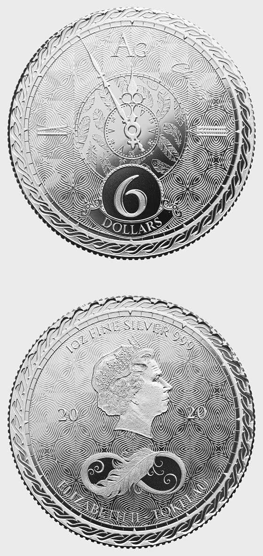 Chronos 2020 - Bullion - Einzelmünzkapsel - Silbermünze