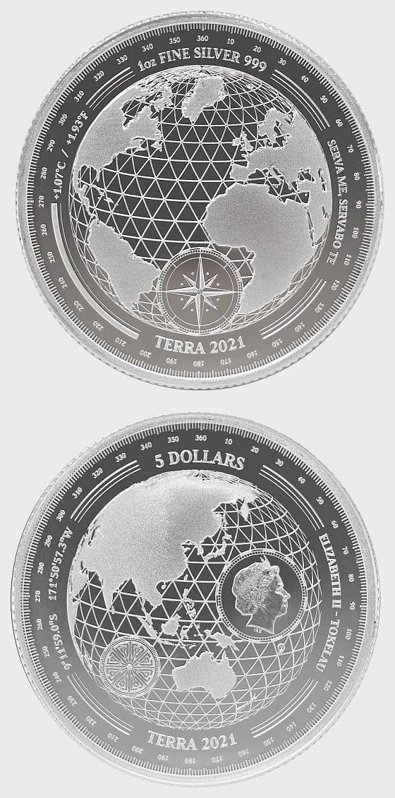 Terra 2021 - Bullion - Single Coin Capsule - Silver Coin