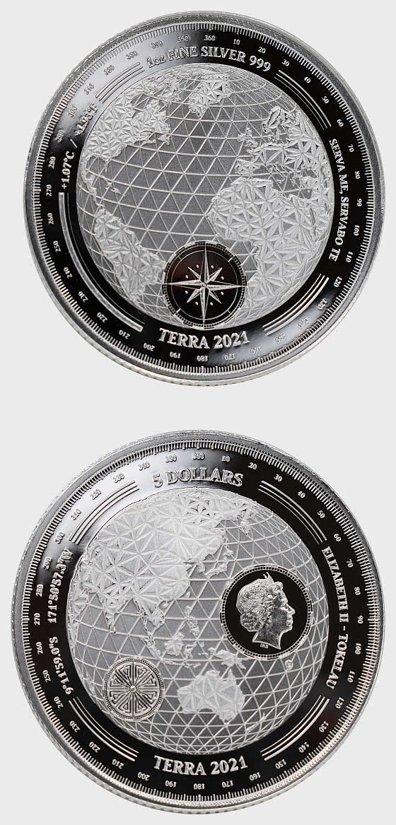 Terra 2021 - Proof-Like - Single Coin Capsule - Silver Coin