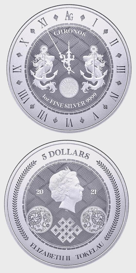 Chronos 2021 - Bullion - Single Coin Capsule - Silver Coin