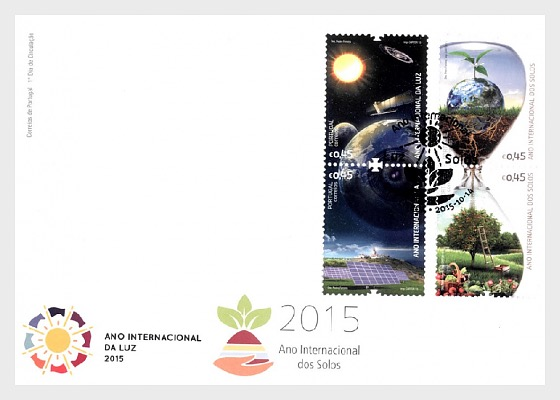 International Year Light and Soils - First Day Cover