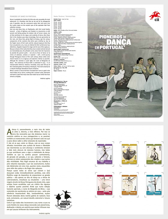 Pioneers of Dance in Portugal - Stamp Booklet