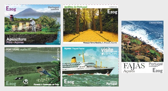 Azores Self-Adhesive Stamps - Set