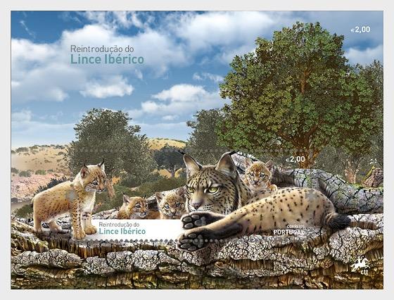 Reintroducing the Iberian Lynx into Portugal - Souvenir Sheet