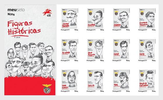 Historische Figuren von Benfica Football Club - Markenheftchen