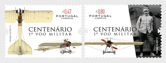 Centenary des ersten portugiesischen Militärflug - Serie