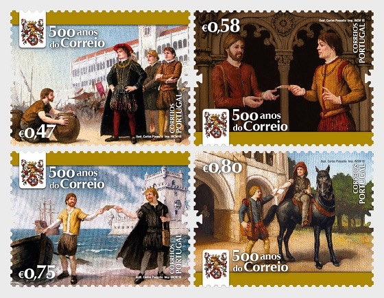 Postdienstes in Portugal - 500 Jahre - Serie