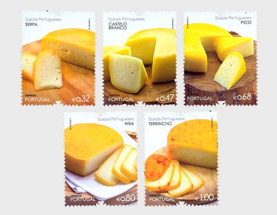 Portuguese Cheeses 2nd Group   Portugal Stamps   Worldwide