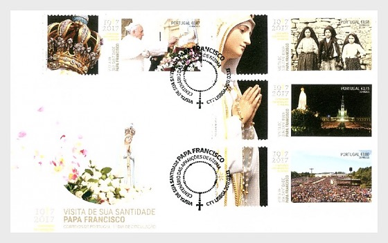 His Holiness Francis at the Celebration of Fátima - First Day Cover
