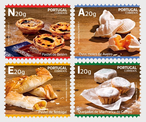 Traditional Desserts of Portugal - Self-Adhesive - Set