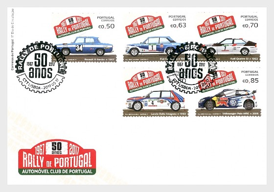 Rally de Portugal - 50th Anniversary - First Day Cover