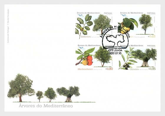 Euromed - Trees of the Mediterranean - First Day Cover
